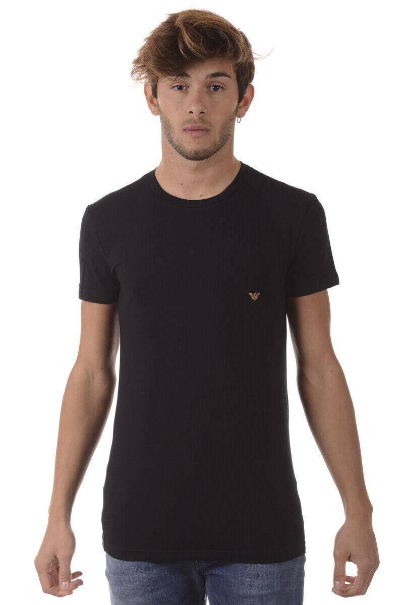 T shirt Maglietta Emporio Armani Sweatshirt Cotone herren schwarz 1110357A745 20
