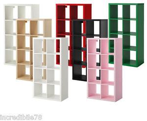 Ikea libreria 8 posti verticale kallax 77x147x39 cm ebay for Libreria cubi ikea