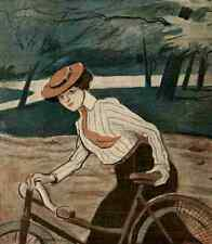 A4 Photo Sancha La Vie en Rose 1903 Bicyclette Print Poster