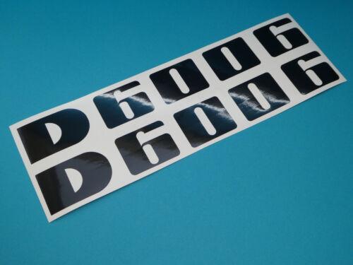 Deutz d 6006 pegatinas emblema sticker haubenaufkleber letras cheers negro