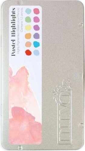 Nuvo Watercolor Pencils 12//Pkg Pastel Highlights 841686105227