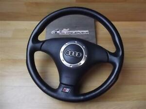 Original-Audi-TT-8N-S-Line-Sportlenkrad-8N0419091A-8N0880201-Leder-schwarz