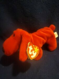 1996 Rover The Dog TY Beanie Baby Retired First Generation PVC Plush Toy