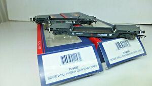 2x Bachmann 33-900e - Bogie Well Wagon Gwr Dark Grey-no 41974- Boxed
