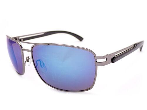 Blue Flash Mirror ST612 STONE Pilot Sunglasses Gunmetal