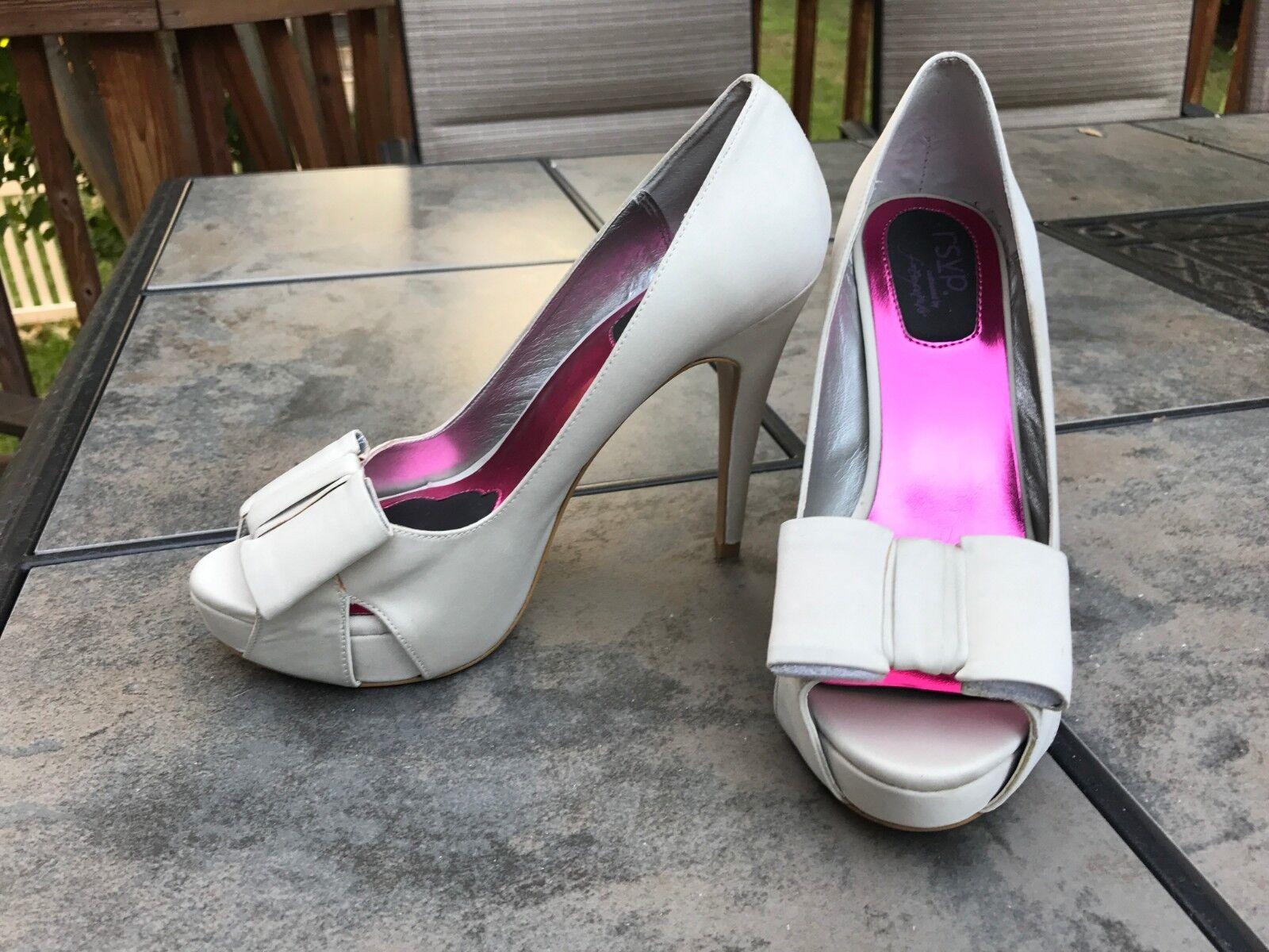 Donna Vero Cudio, bianca & Pink  Stiletto heels, 6M USA size Great condition