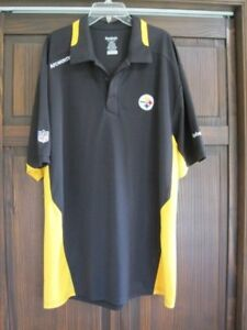 f29415092 Reebok size large black gold polo shirt men s NFL Pittsburgh ...
