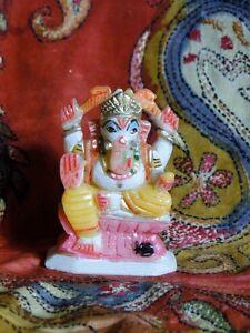 Ganesha-Statue-Marbre-Statuette-Figurine-Inde-Fait-main-Ganesh-Shiva-Hindou