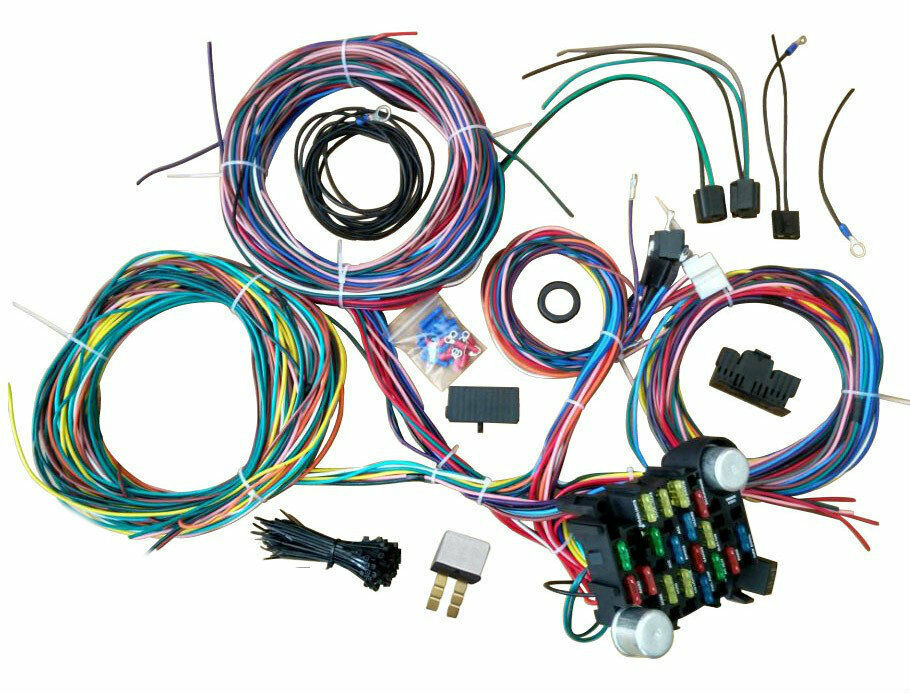 21 circuit wiring harness street hot rat rod custom ... 81 f100 custom wiring harness