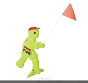 Step2 Kid Alert Visual Warning Signal Children at Play Safety Sign Neon Green