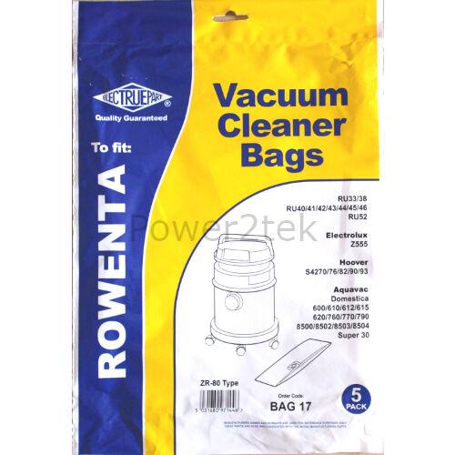 10 x ZR80 poussière sacs pour rowenta collecto RU605 collecto RU630 collecto RU635