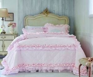 Simply Shabby Chic QUILT SIZE TWIN Pink Petticoat Ruffles NEW ... : simply shabby chic quilts - Adamdwight.com