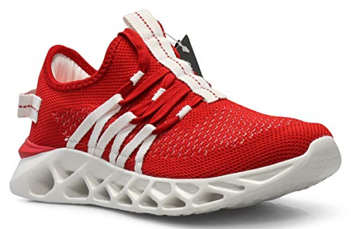 CROSSMONT Lightweight Athletic Athletic Athletic Mens Wave Casual Fashion Turnschuhe schuhe rot ff847d