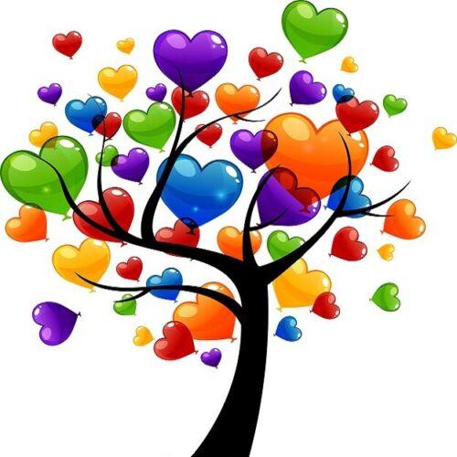 30 Custom Heart Tree Personalized Address Labels