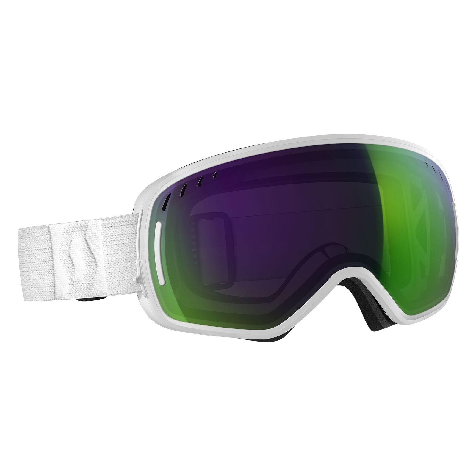 Scott LCG Goggle - White Solar Green Chrome