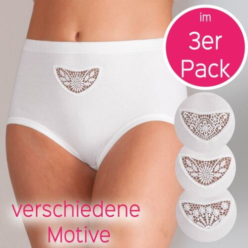 Femmes Taillenslip 3er Pack de attaches fines 8228-015-p Taille 40-50 in Blanc