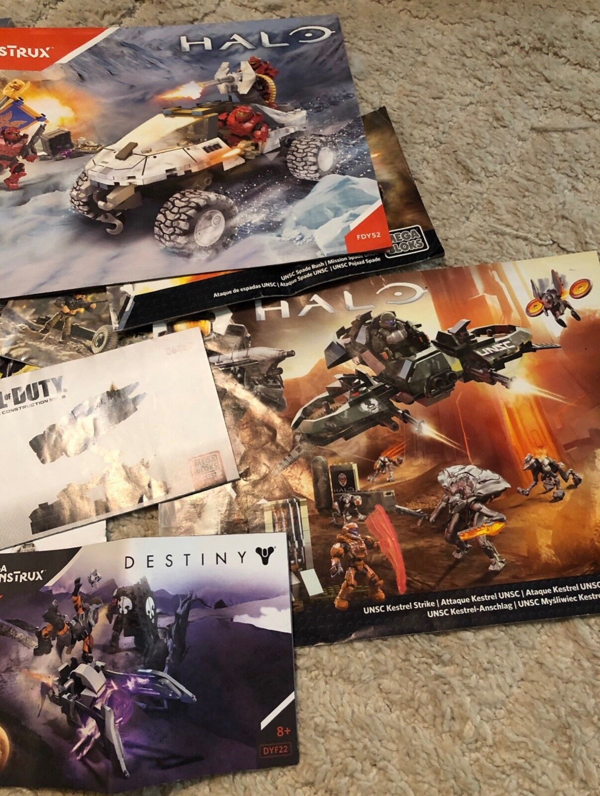 Mega Construx Halo, Destiny Destiny Destiny & Call of Duty sets. Used in good condition. 1ef038