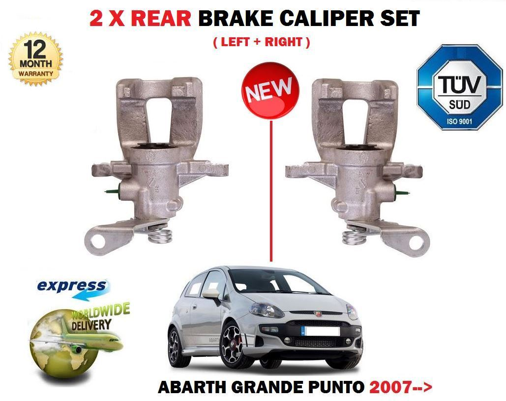 For Fiat Punto 06/>  2x REAR BRAKE CALIPER RETURN SPRINGS  18148//49 Grande,Evo