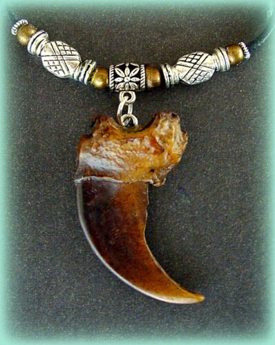 Wild Animal CLAW look Indian style BEAR CLAW replica Pendant NECKLACE Jewelry
