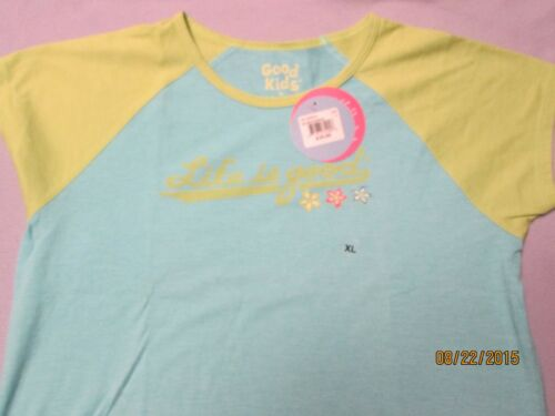 LIFE IS GOOD Girl/'s Sportie Tee Shirt NWT S,M,L,XL