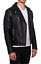 Giubbotto-chiodo-nero-Uomo-estivo-eco-Pelle-Giubbino-Slim-Fit-giacca-pelle-uomo miniatura 1