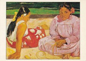 alte-AK-Femme-de-Tahiti-sur-la-plage-P-Gauguin-ungelaufen-Ansichtskarte-B539i
