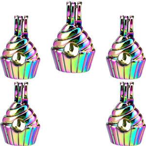 5-Pack-Rainbow-Color-Cake-Ice-Cream-Locket-Beads-Cage-Pendant-C950