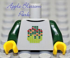 NEW-Lego-Minifig-Dark-Green-w-GRAY-TORSO-Boy-Girl-DJ-w-Head-Sweat-Shirt-Jacket