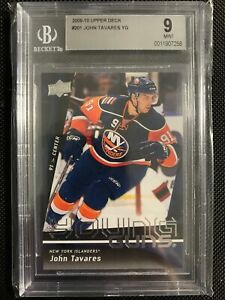 2009-10-UPPER-DECK-YOUNG-GUNS-JOHN-TAVARES-RC-201-BGS-9-MINT