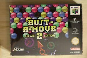 Bust-A-Move 2: Arcade Edition-embalaje original/Boxed Nintendo 64 n64 PAL