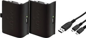 Venom-Xbox-One-Controller-Rechargeable-Battery-Twin-Pack-Black-VS2850