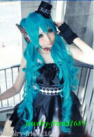 New Cosplay Wig Miku Dragon Blue Curly Split Type Heat Resistant Party Wig