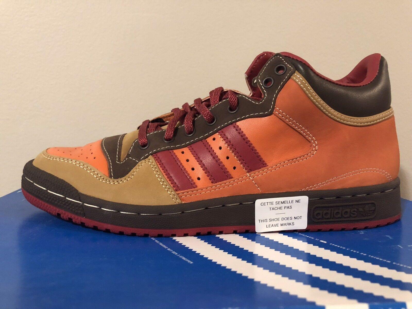 New ADIDAS Originals Strider shoes Red Amber orange Size Men's 8