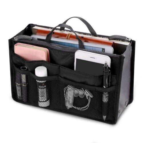 Women Fashion Ladies Travel Handbag Organizer Purse Large Liner Easy Tidy Bag
