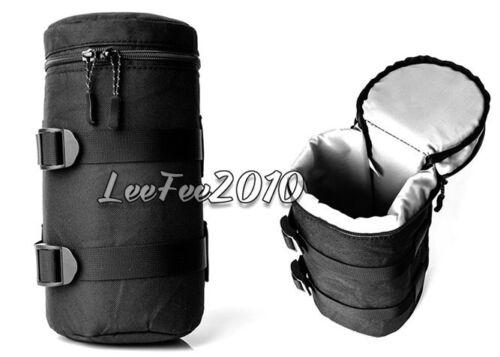 Cámara SLR Negro Bolsa de DSLR lente bolsa caso Inserto Bolso Cubierta Protector caso de acolchado