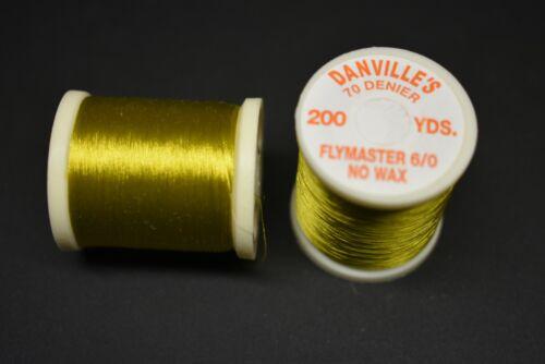 #61 LIGHT OLIVE Danville/'s FlyMaster No Wax 6//0 70 Denier 200 yards 1 Spool