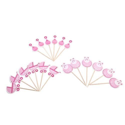 Boy//Girl Type Kids Birthday Cute Cupcake Toppers Baby Shower Cake Decor