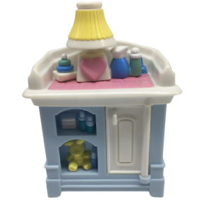 Fisher Price Loving Family Dollhouse Blue Baby Doll Changing Table Nursery 1999 Ebay