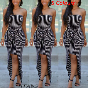 Details about New Women\'s Strapless Maxi Dress Plus Size Tube Top Long  Skirt Sundress Cover Up