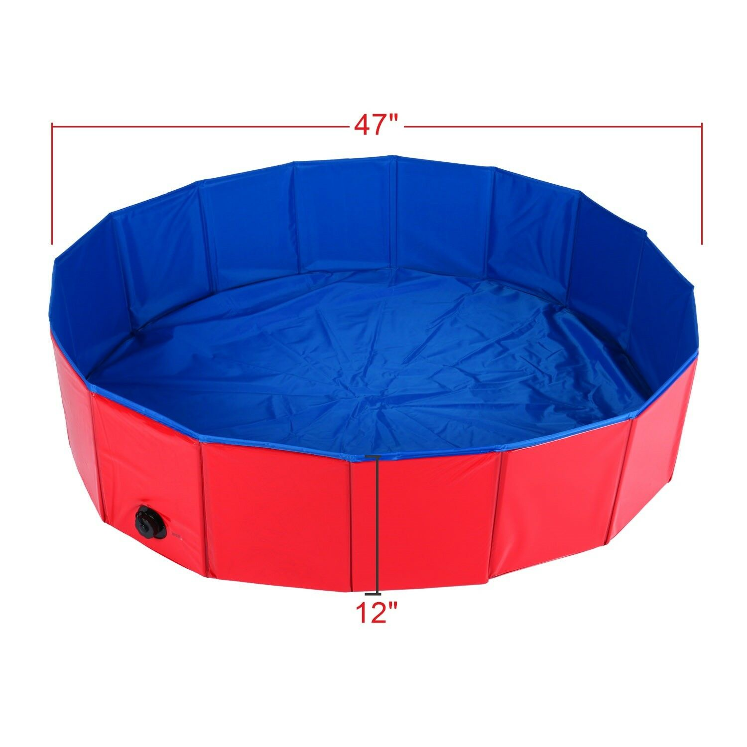 Folding Pet Pool Swimming Dog Cat Bathing Tub Bathtub Shower Wash Pond 47 D12 H