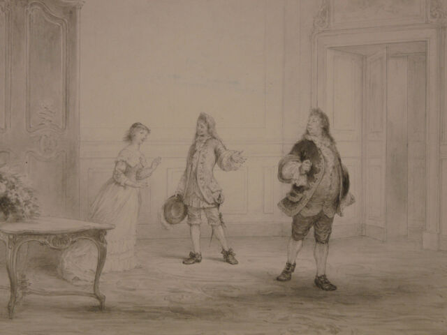 Edmond Eugène Valton (1836-1910) Turcaret Exchange Museum Orsay National Gallery
