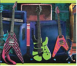 Electric guitars and bass amplifiers speakers wallpaper - Guitar border wallpaper ...