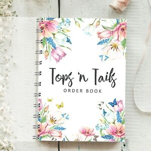 Details about Personalised Order Book Spring Flowers Design Order forms,  Customer Sales Log