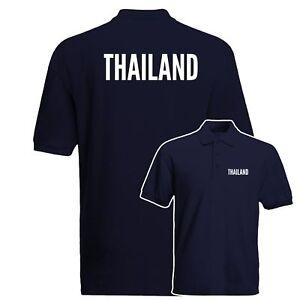 Maglietta-Polo-della-Thailandia-orgoglio-della-nazione-patriottismo-Country-Love-Ispirato-Polo-Top