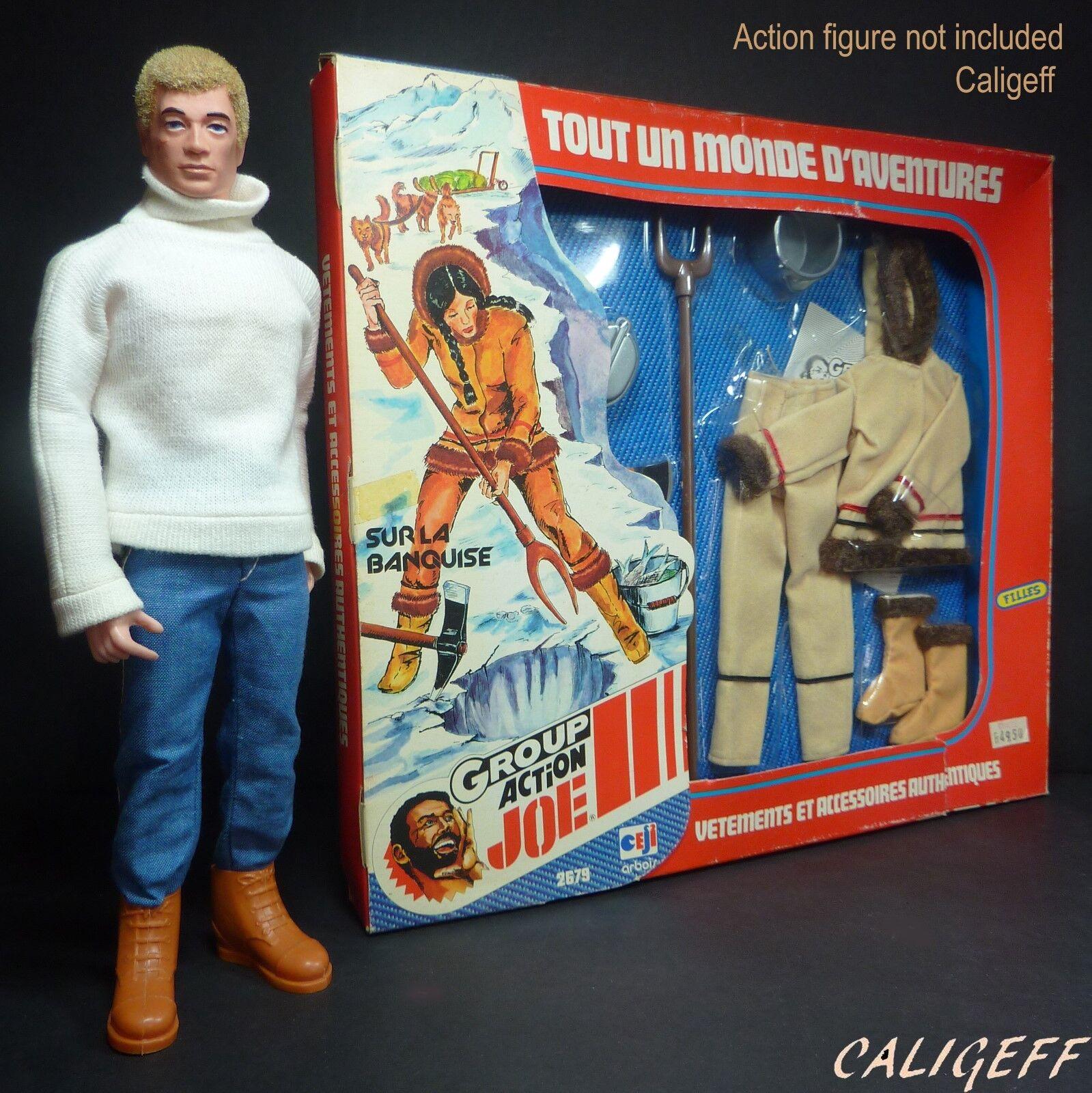 Vintage 1976 On the Ice Eskimo Window Box for Daina Group Action Joe Girl GI Joe