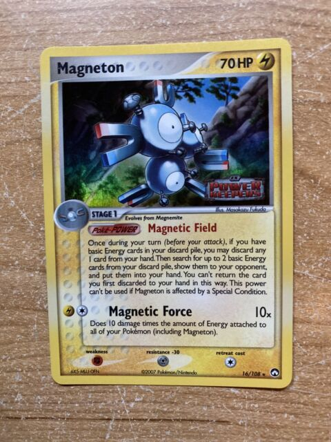 Pokemon Card - Power Keepers Stamped Holo - Magneton - 16/108