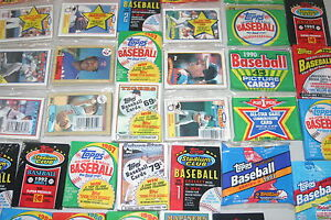 HUGE-LOT-OF-2000-OLD-UNOPENED-BASEBALL-CARDS-IN-PACKS