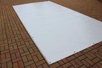 Abdeckplane Lkw Plane PVC Folie 3m x 6,25m ca. 680g/qm Weiß B-Ware