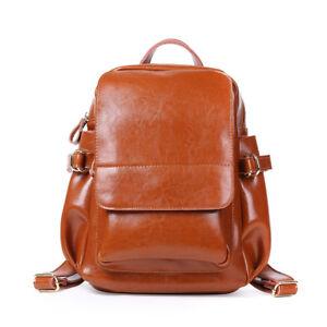 Women-Genuine-Leather-Backpack-Handbag-Shoulder-Bag-Crossbody-Hobo-890