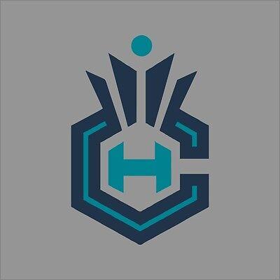 Charlotte Hornets #7 NBA Team Logo 1Color Vinyl Decal Sticker Car Window Wall